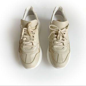 mimosa beige leather sneakers size 37